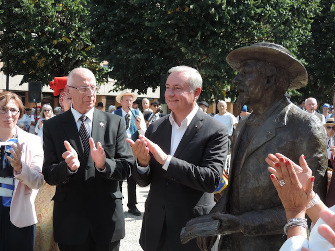 Inauguration de la statue de Frédéric Mistral à Toulouse